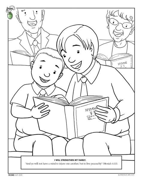 ideas  lds coloring pages  pinterest lds