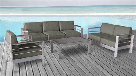 canapé de jardin aluminium canapé orolo de jardin 3 places en aluminium salon de