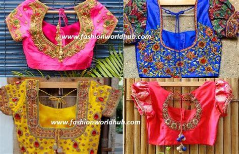 latest maggam work blouse designs  pattu kanjeevaram
