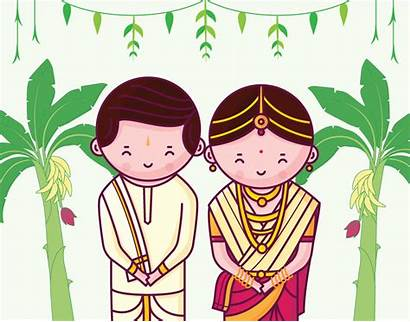 Indian Couple Invitation Quirky Tamil Card Invitations