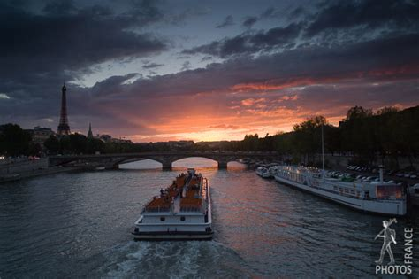 Bateau Mouche Winter by Bateau Mouche Going Towards The Sunset Banks Of The
