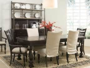 chair covers on dining room with dining room with white