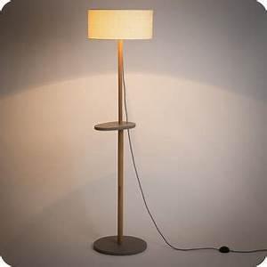 Pied Lampadaire Bois : lampadaire ch ne massif et medium de style vintage scandinave eos ~ Teatrodelosmanantiales.com Idées de Décoration