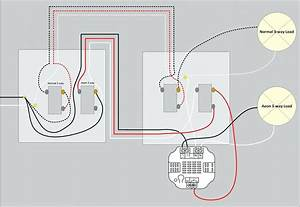 Emergency Light Wiring Diagram Up