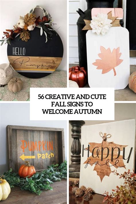creative  cute fall signs   autumn digsdigs