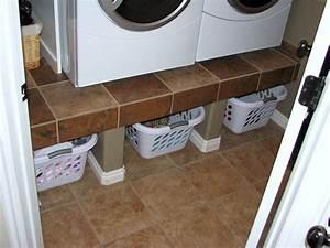 Built-In Raised Laundry Platform Contractor Kurt