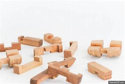 Barrel Interlocking Puzzle Wooden Puzzles Beer Solve