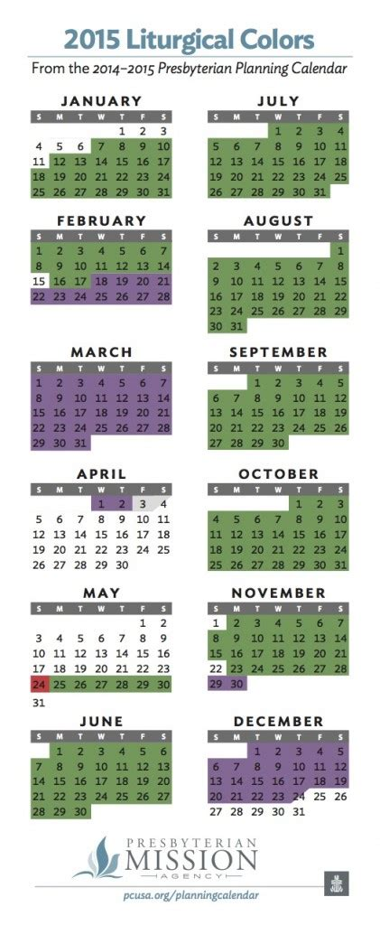 liturgical colors planning calendar independence calendar