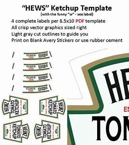 6 best images of heinz ketchup label heinz ketchup for Heinz label template