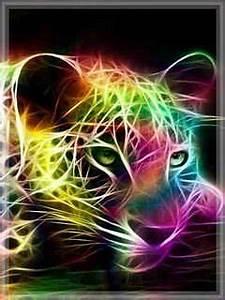 Download Digital Neon Jaguar Mobile Wallpaper Mobile