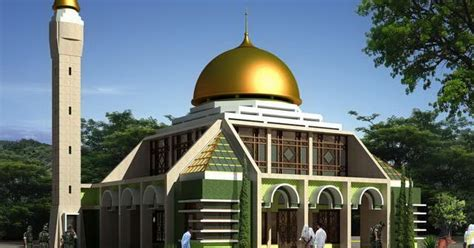 gambar desain masjid minimalis modern