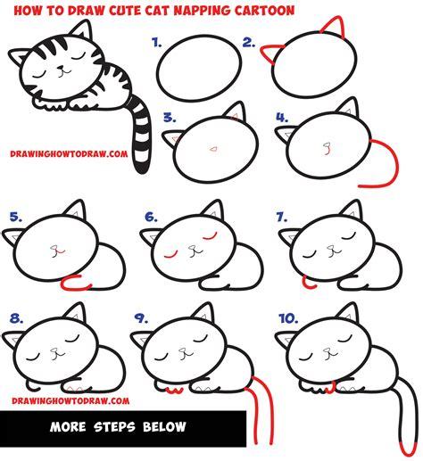 draw  supercute kawaii cartoon cat kitten