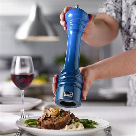 trudeau ombre professional pepper mill  blue cutlery