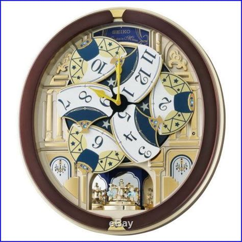 new seiko melodies in motion 2014 animated musical christmas carol wall clock christmas decor
