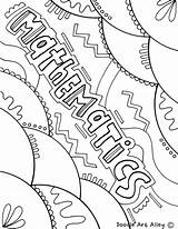 Coloring Mathematics Maths Covers Math Notebook Subject Binder Colorir Template Doodles Classroom Desenhos Templates Result Decorate Science Capa Caratulas Musica sketch template