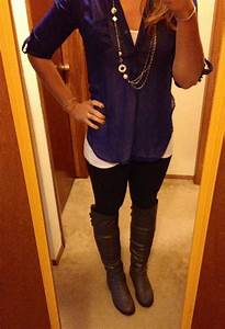 Business Casual Work Outfit #26..... Starting to get cold....boots are coming out! Shirt- Kohls ...