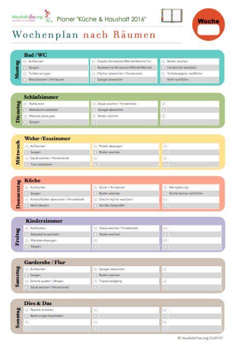 Putzen Plan by Checklisten Jetzt Im Shop Entdecken Und Downloaden