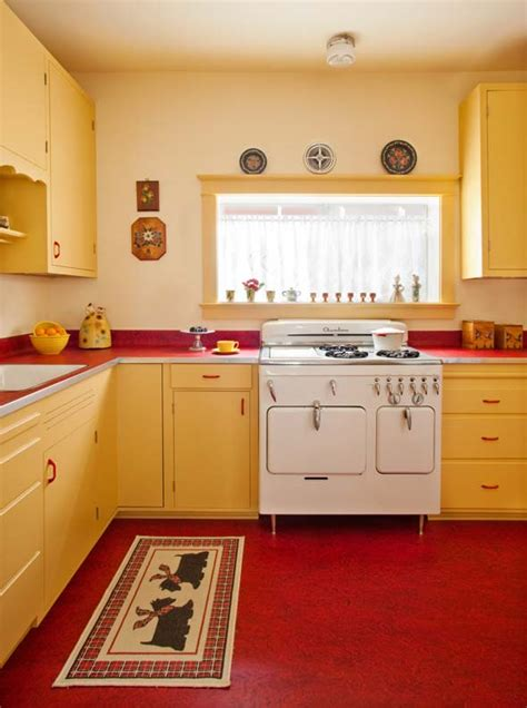 vintage glass canisters kitchen designing a retro 1940s kitchen house