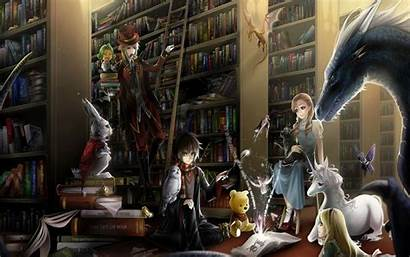 Library Books Wallpapers Potter Harry Artwork Winnie