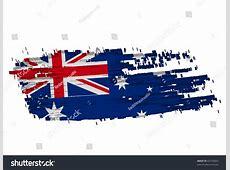 Grunge Australian Flag Shape Australia Including Stock