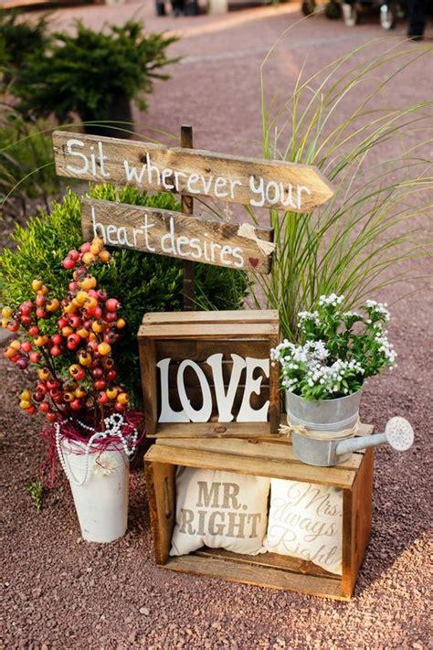 rustic wooden crates wedding ideas brasslook