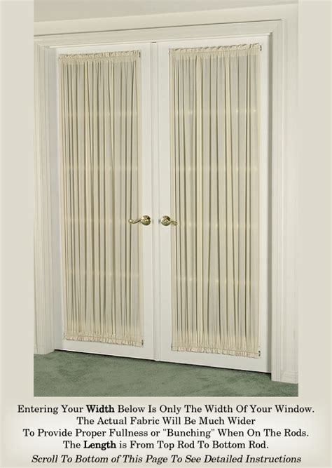 Sidelight Window Curtain Ideas by French Door Curtain Cotton Selection Door Curtains 100