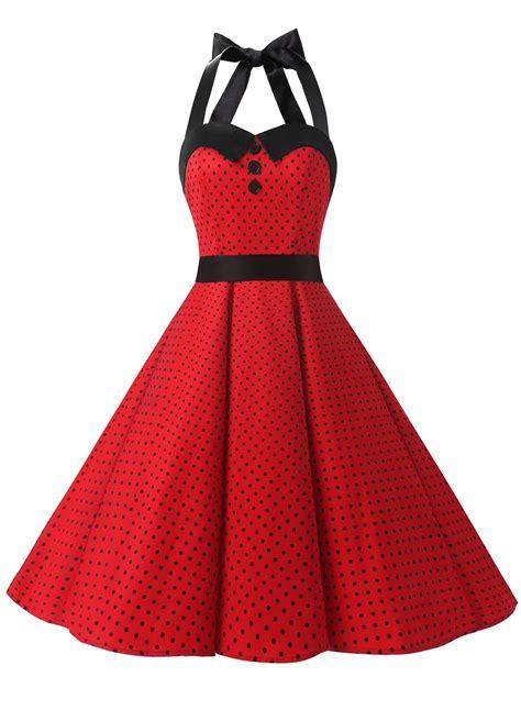 dressystar vintage polka dot retro cocktail prom dresses