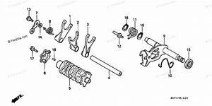 Honda Motorcycle 1999 Oem Parts Diagram For Shift Drum