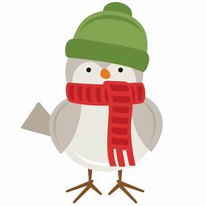 Winter Bird SVG scrapbook cut file cute clipart files for ...