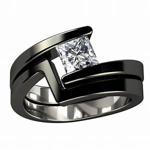 Black titanium engagement ring something borrowed for Wedding ring black titanium