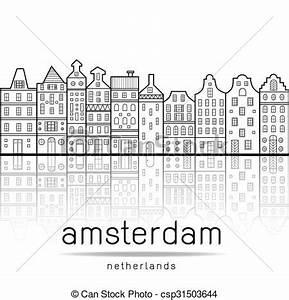 repere amsterdam style maisons repere amsterdam With dessin plan de maison 3 dessin de ville damsterdam illustration de vecteur