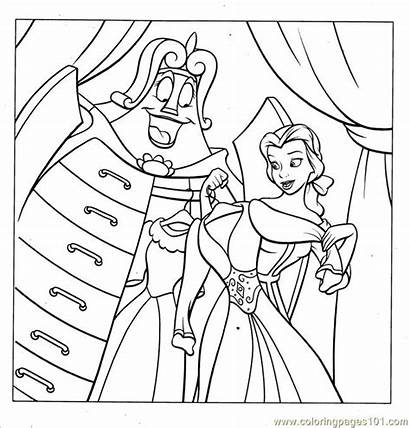 Coloring Princess Disney Belle Pages Beast Beauty