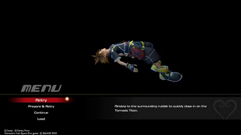 Kingdom Hearts 3 Game Over Screen Youtube