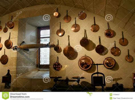 french kitchen  copper cookware stock image image