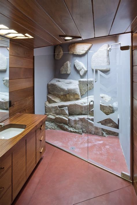 modern lakehouse bathroom interior design ideas