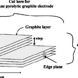 schematic representation   step edge   highly ordered pyrolytic  scientific