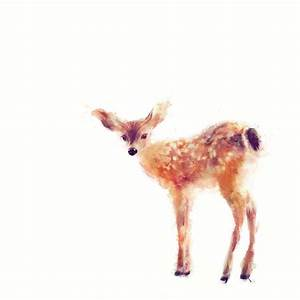 Fawn Painting by Amy Hamilton