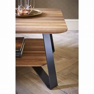 Table Basse Design Noyer ANNA Collection RETRO Audrey
