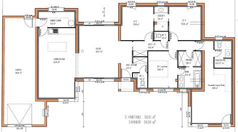 plan de maison gratuit 3 chambres maison design 133 m 3 chambres plan maison