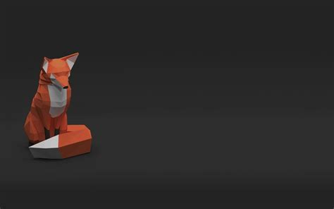 wallpaper fox low poly 3d download wallpapers fox 4k 3d creative gray background Wallp