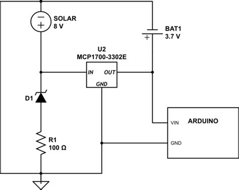 Battery Charging Solar Powered Charger Arduino