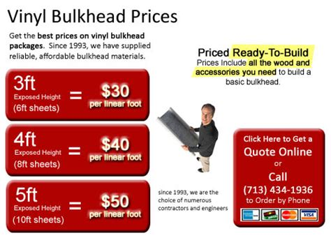 vinyl bulkhead sheet piling prices
