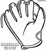 Glove Baseball Coloring Colorings Coloringway sketch template