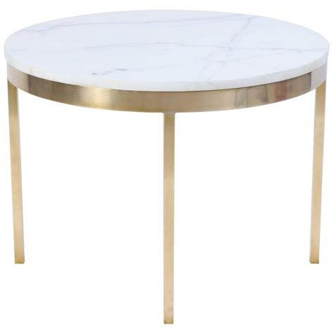 marble and brass side table brass and marble round accent table by nicos zographos at