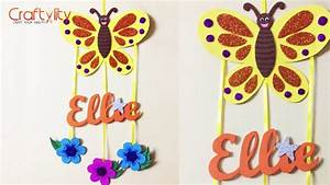 DIY Door Name Plate for Kids Room Foam Craft Wall