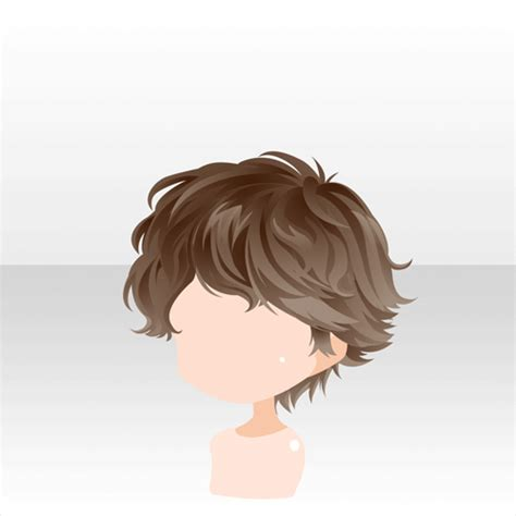 anime hair boy short curly brown i m an artist