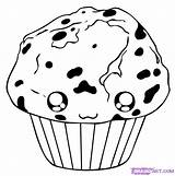 Muffin Draw Step Drawing Food Dawn Steps Dragoart sketch template