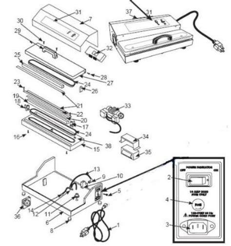 pro  vacuum sealer parts parts  weston pro  pro