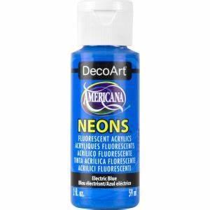 Americana Neon Lights 2 oz Electric Blue Acrylic Paint