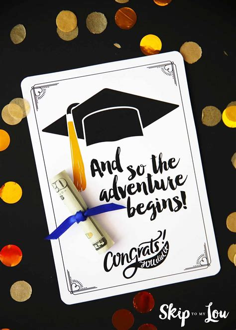 adventure begins graduation card